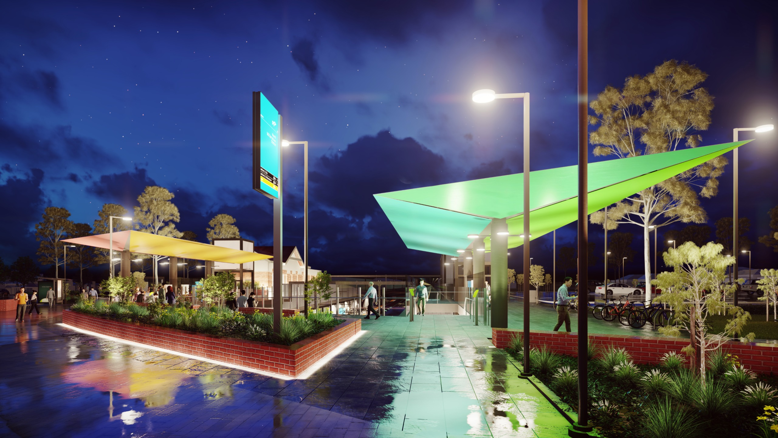 The new station forecourt will be well-lit for safety
