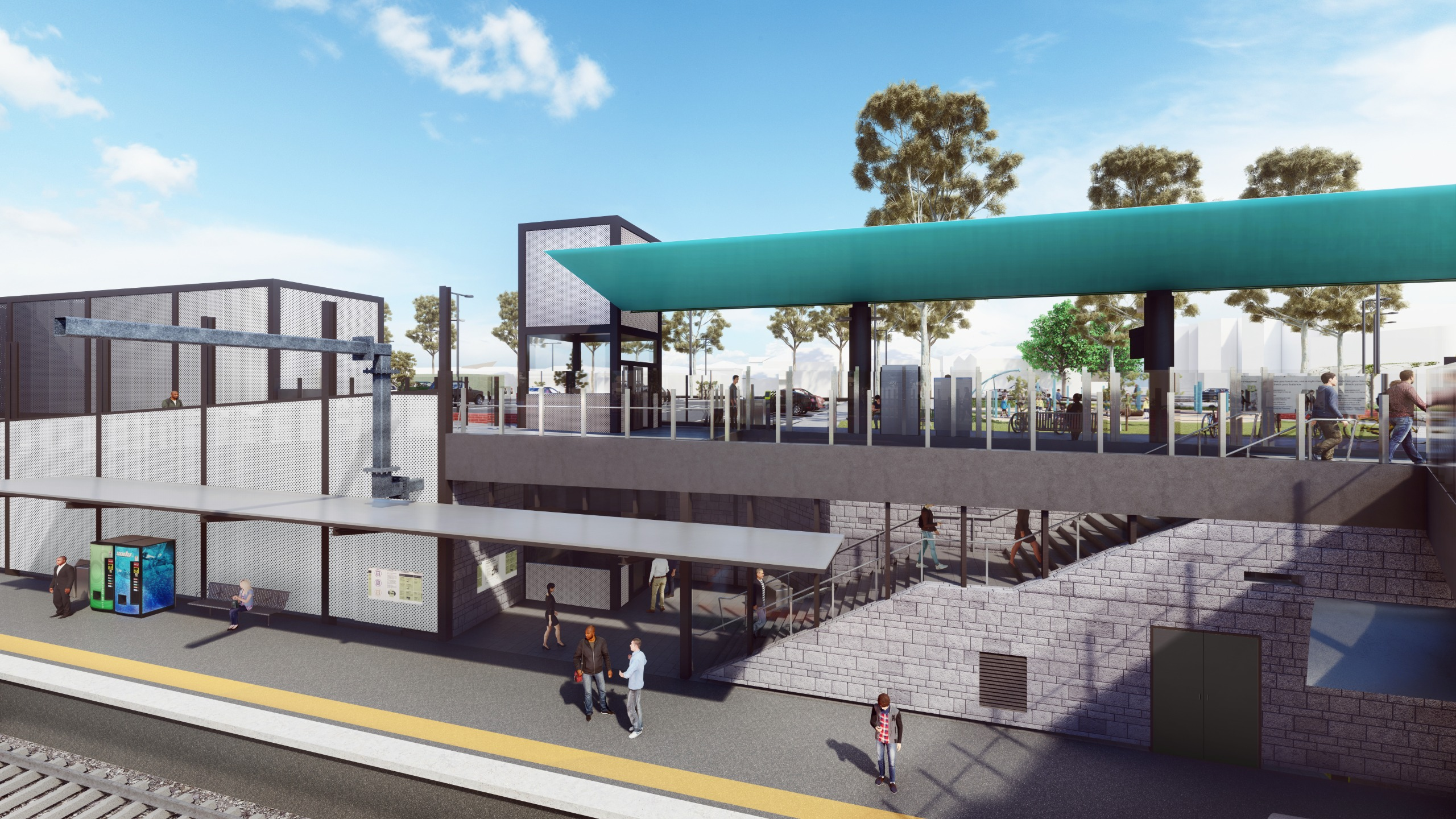 The new lowered platforms will be accessed by lifts, ramps and stairs