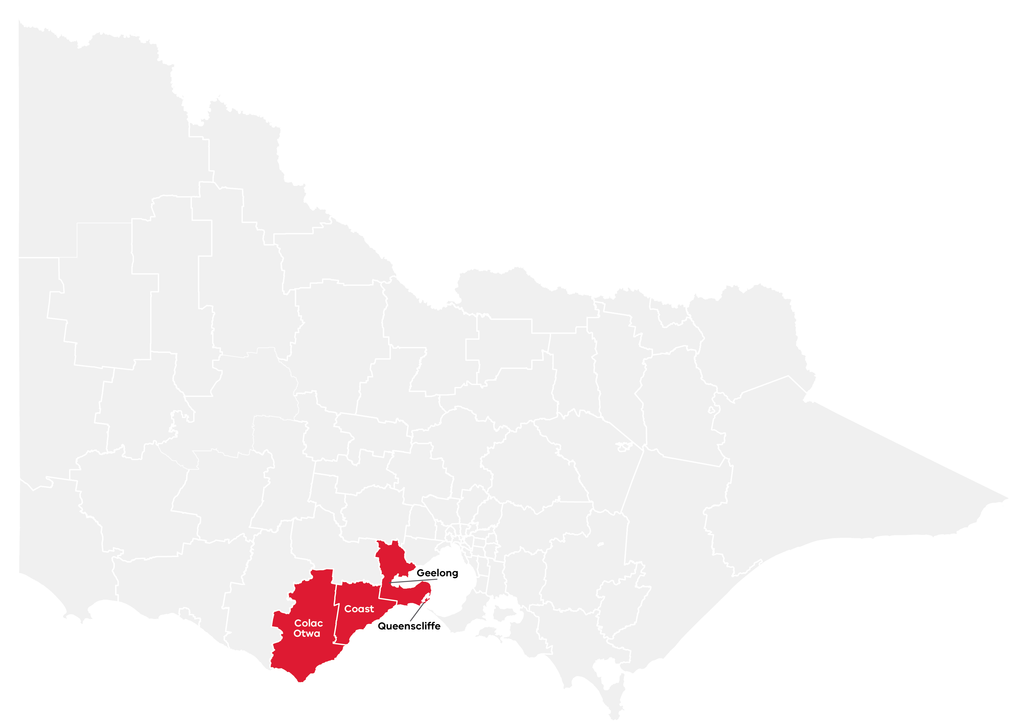 Barwon Regional Partnership map