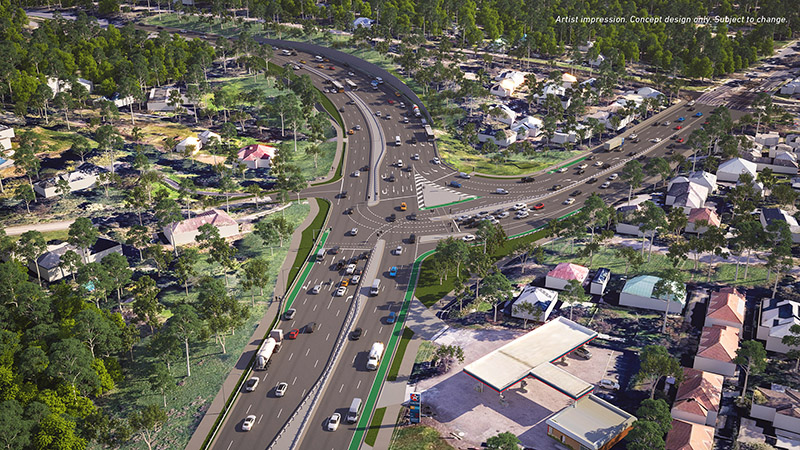 Fitzsimons Lane and Main Road intersection - looking toward Templestowe
