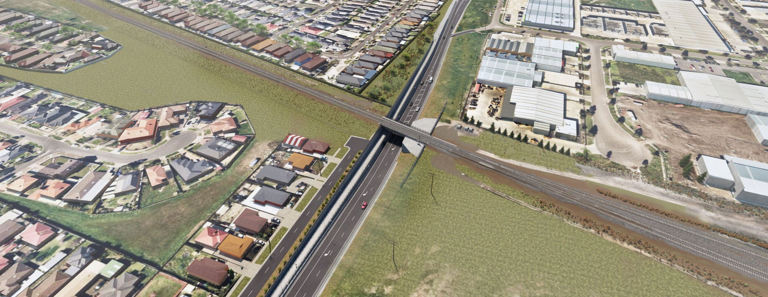 New Robinsons Road underpass, Deer Park – looking south east