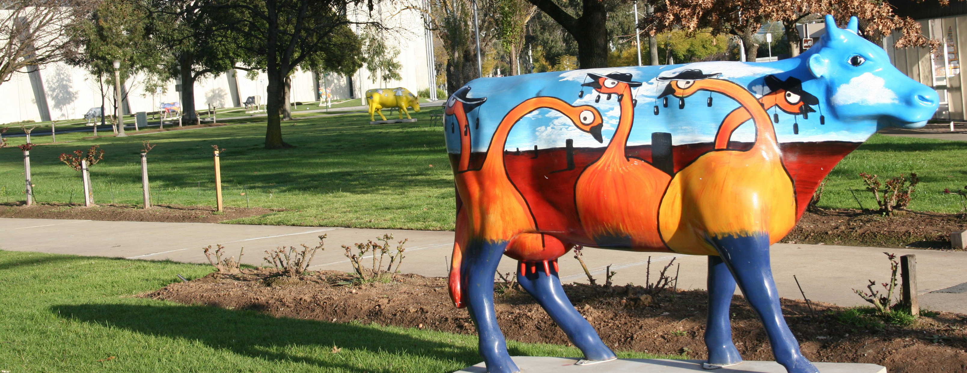A Shepparton decorated cow