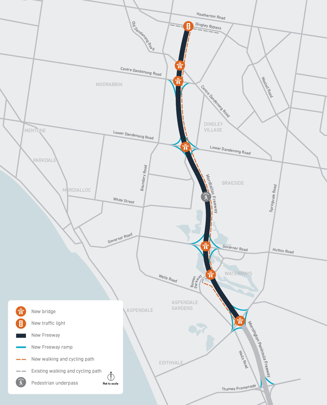 Final design of the Mordialloc Freeway