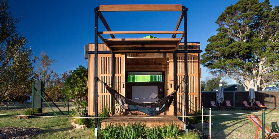External view of pod by Jaws Architects