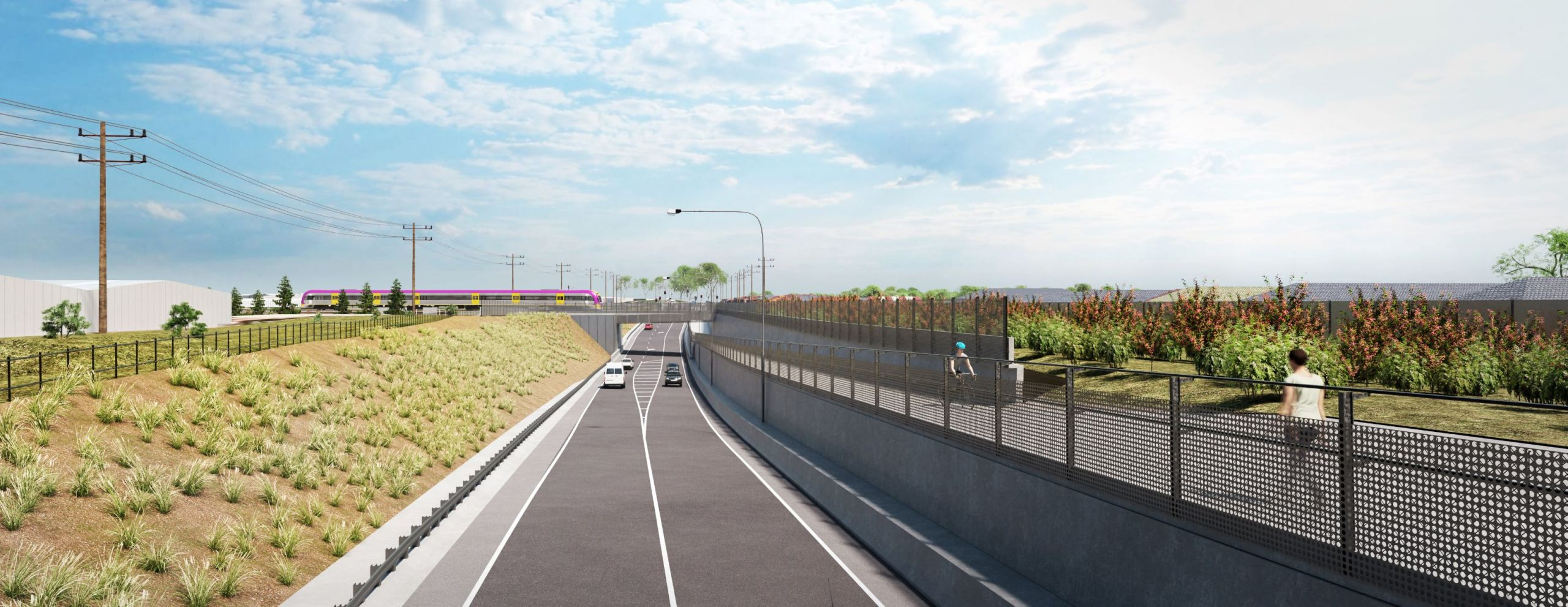 New Robinsons Road underpass, Deer Park – looking north