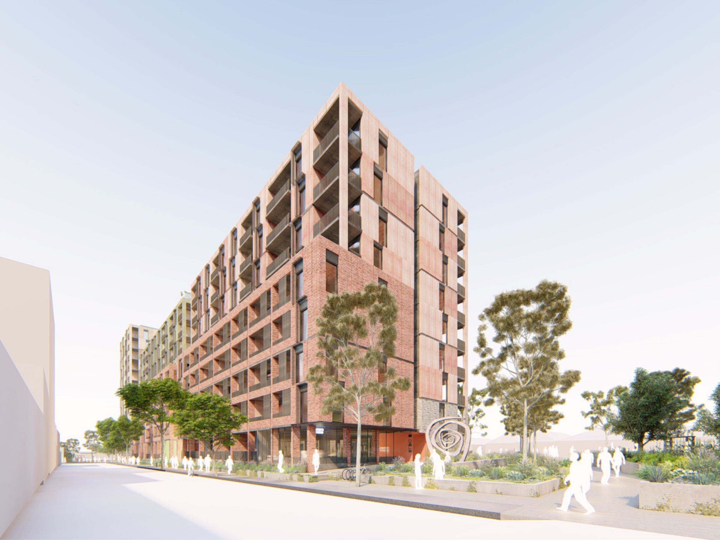 Artist impression looking at the new development from Bangs Street