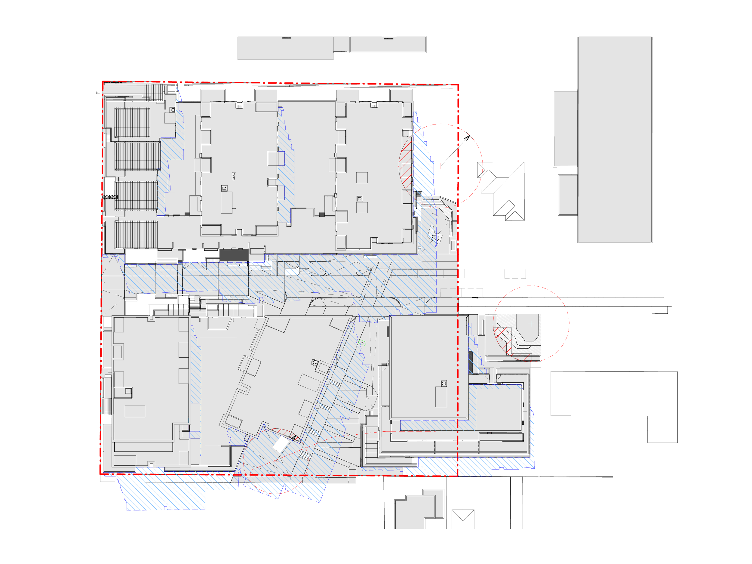 Diagram showing the shadows created by the new Bills Street development on 22 September at 1pm