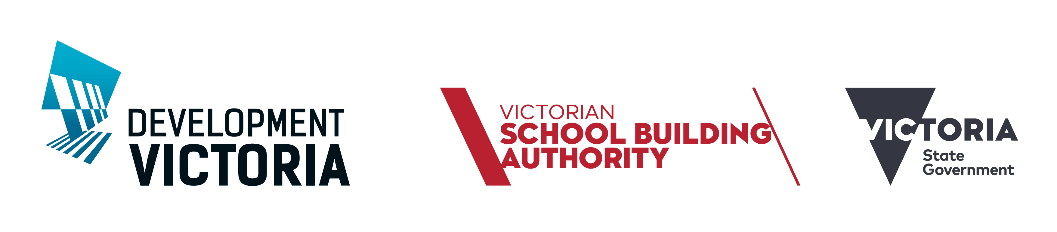 Development Victoria logo and Victorian School Building Authority logo