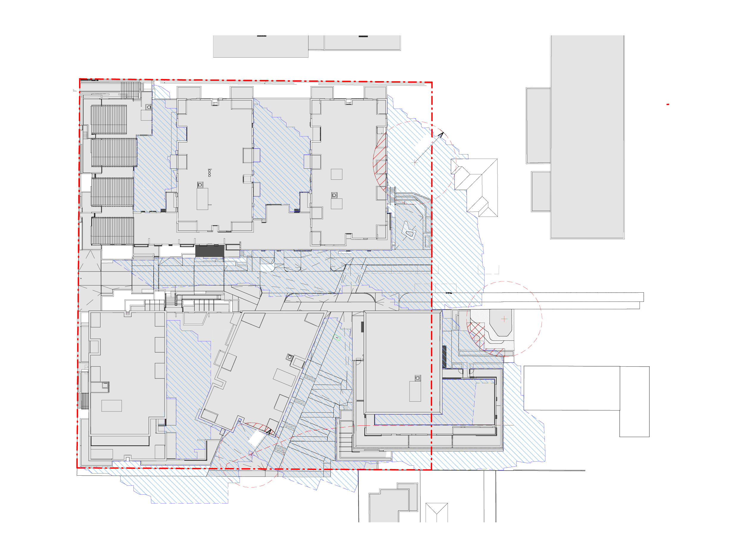 Diagram showing the shadows created by the new Bills Street development on 22 September at 3pm