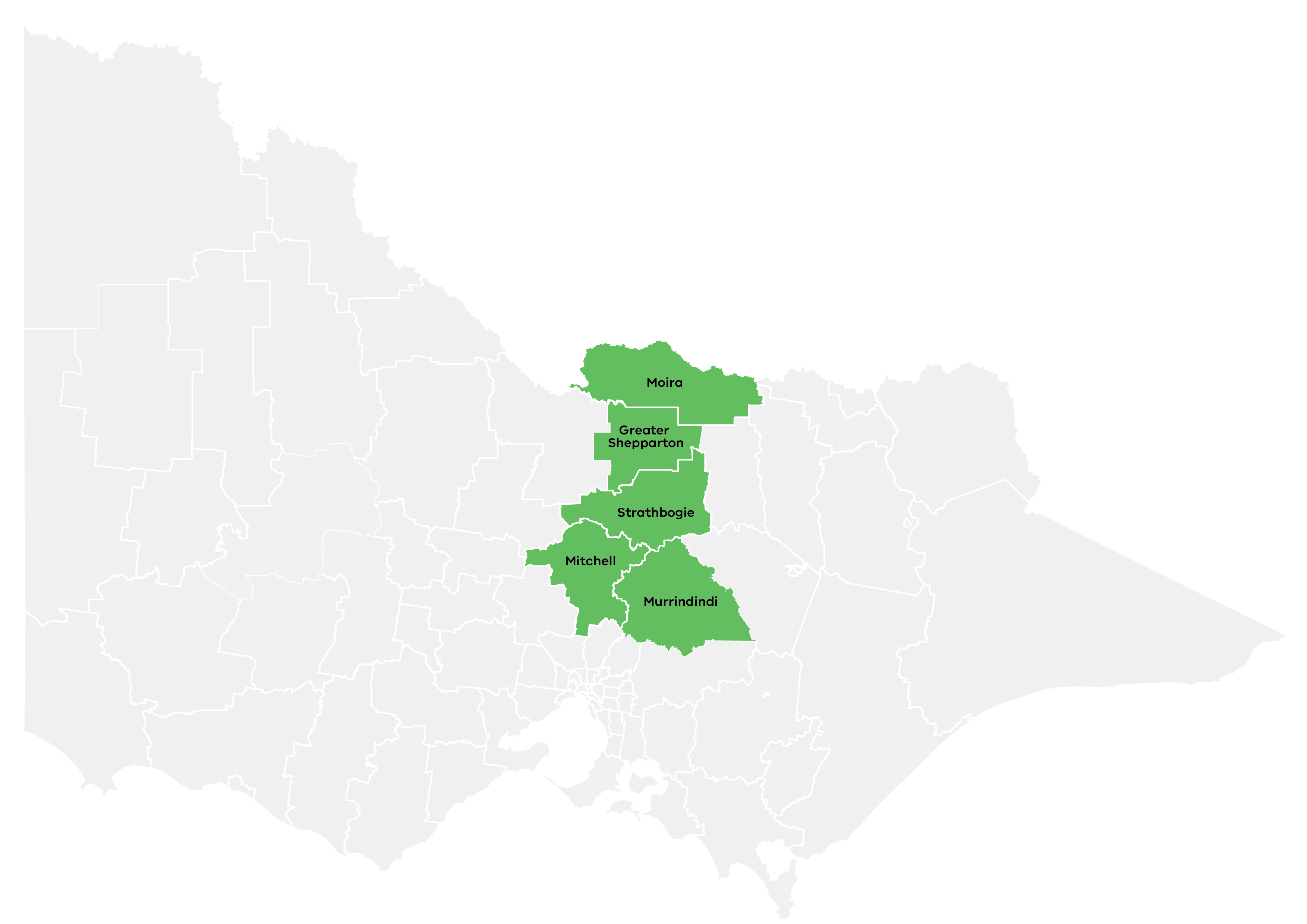 Goulburn Regional Partnership map