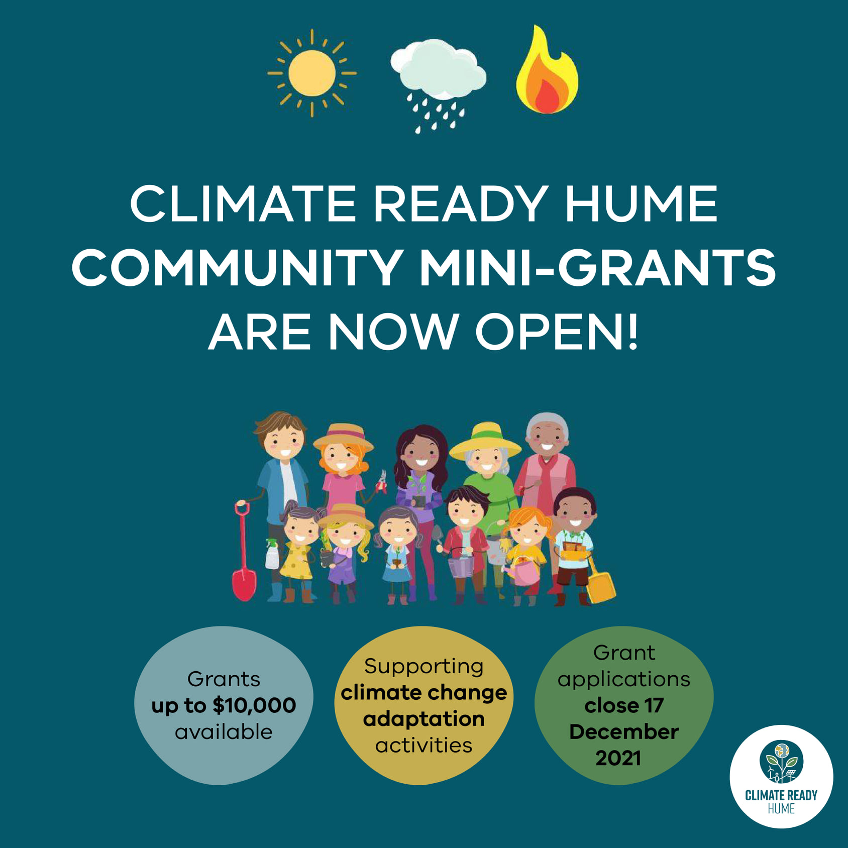 Climate Ready Hume Community Mini-Grants are now open! Picture