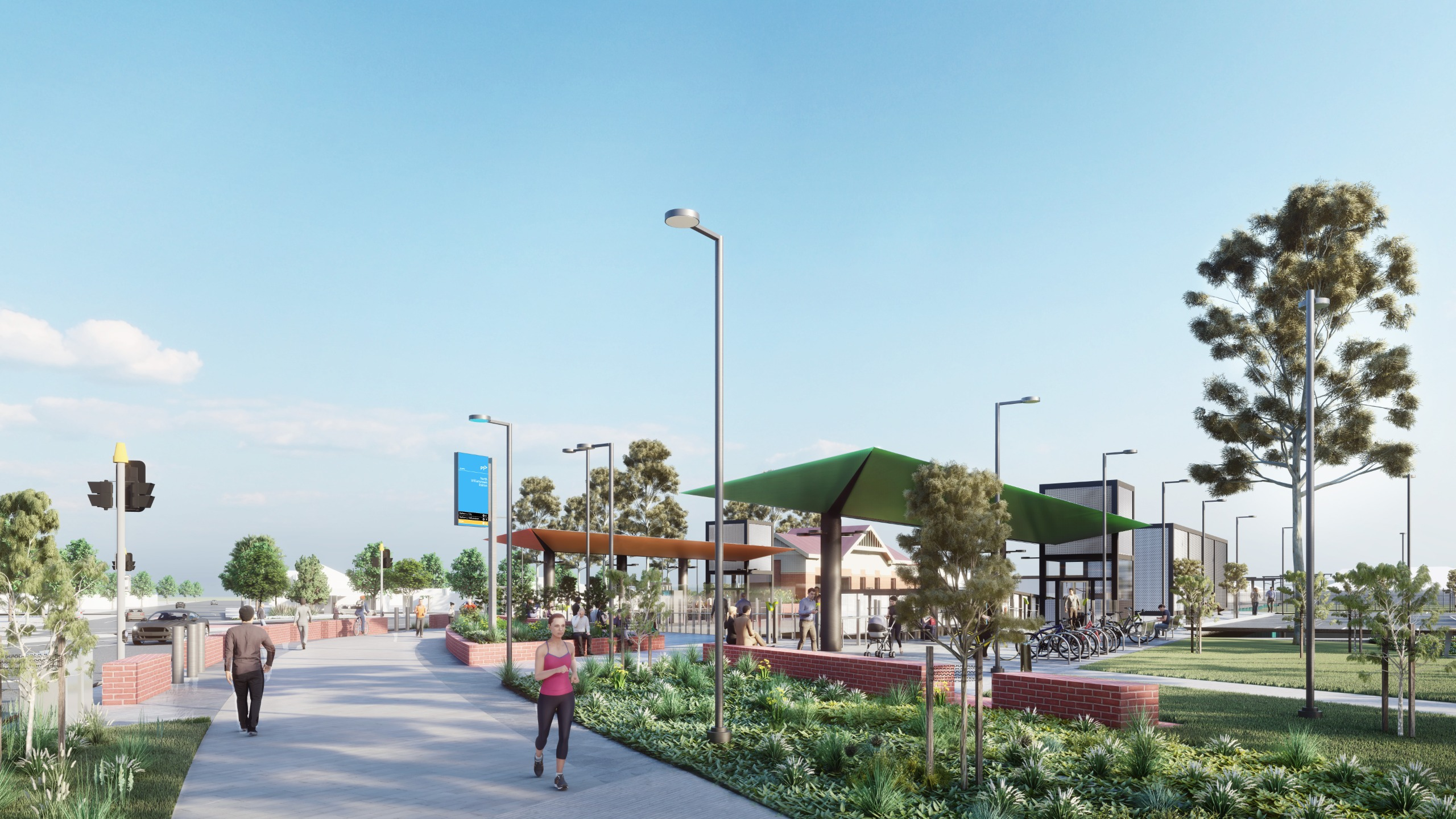 A new shared path will connect the east and west of the station precinct