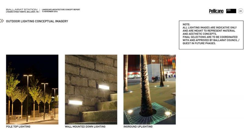 Outdoor lighting conceptual imagery