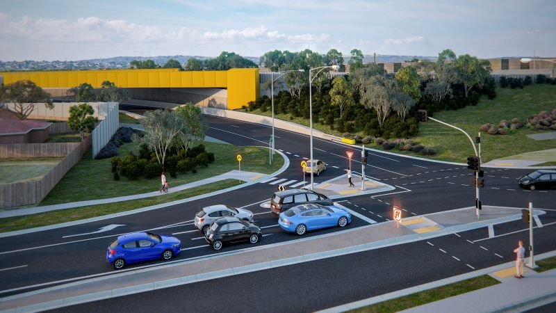 Artist impression of the reinstated Police Road outbound entry ramp leading directly to the Monash Freeway.