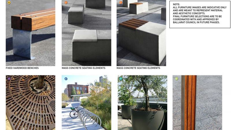 Outdoor furniture conceptual imagery