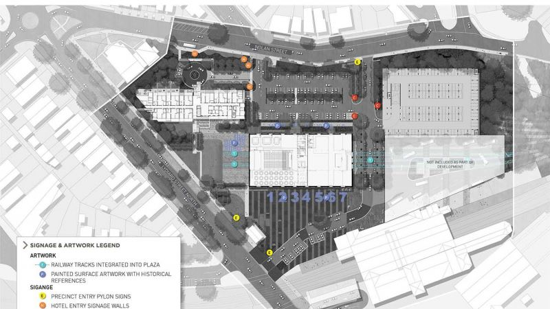 Signage and Artwork concept plan