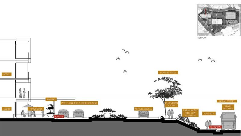 Hotel Entry concept section