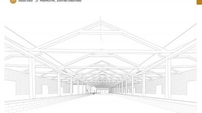 Goods Shed perspective - existing conditions