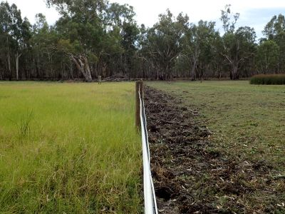 This is a photo of grazing and trampling impacts inside and outside grazing exclosure at Little Rushy Swamp.