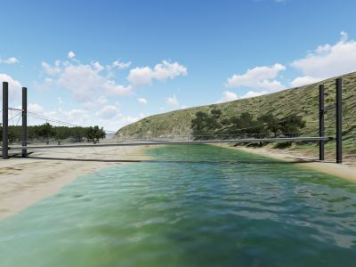 Design concept for Port Campbell Creek pedestrian bridge - side view