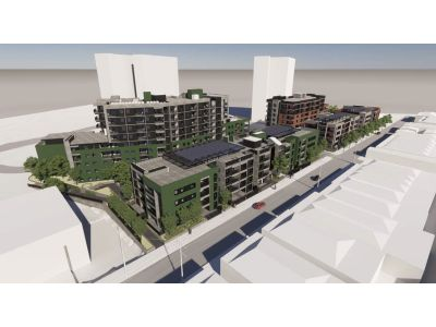 Artist impression of of the new development looking south east along Victoria Street