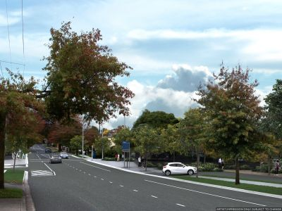 Design of Mont Albert Road at project completion once the level crossing is removed.