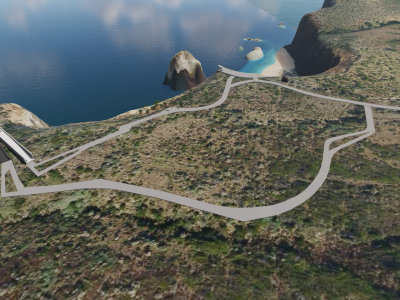 Design concept for the Saddle Lookout - aerial view from a north-east perspective