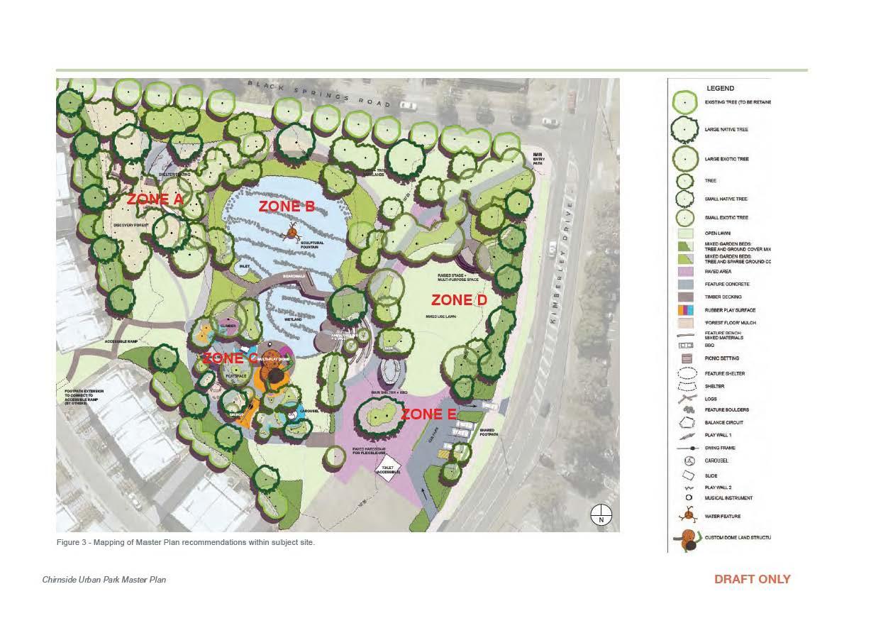 Concept plan of Chirnside Urban Park Master Plan