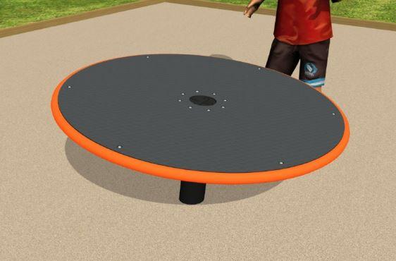 Black spinner with orange sides