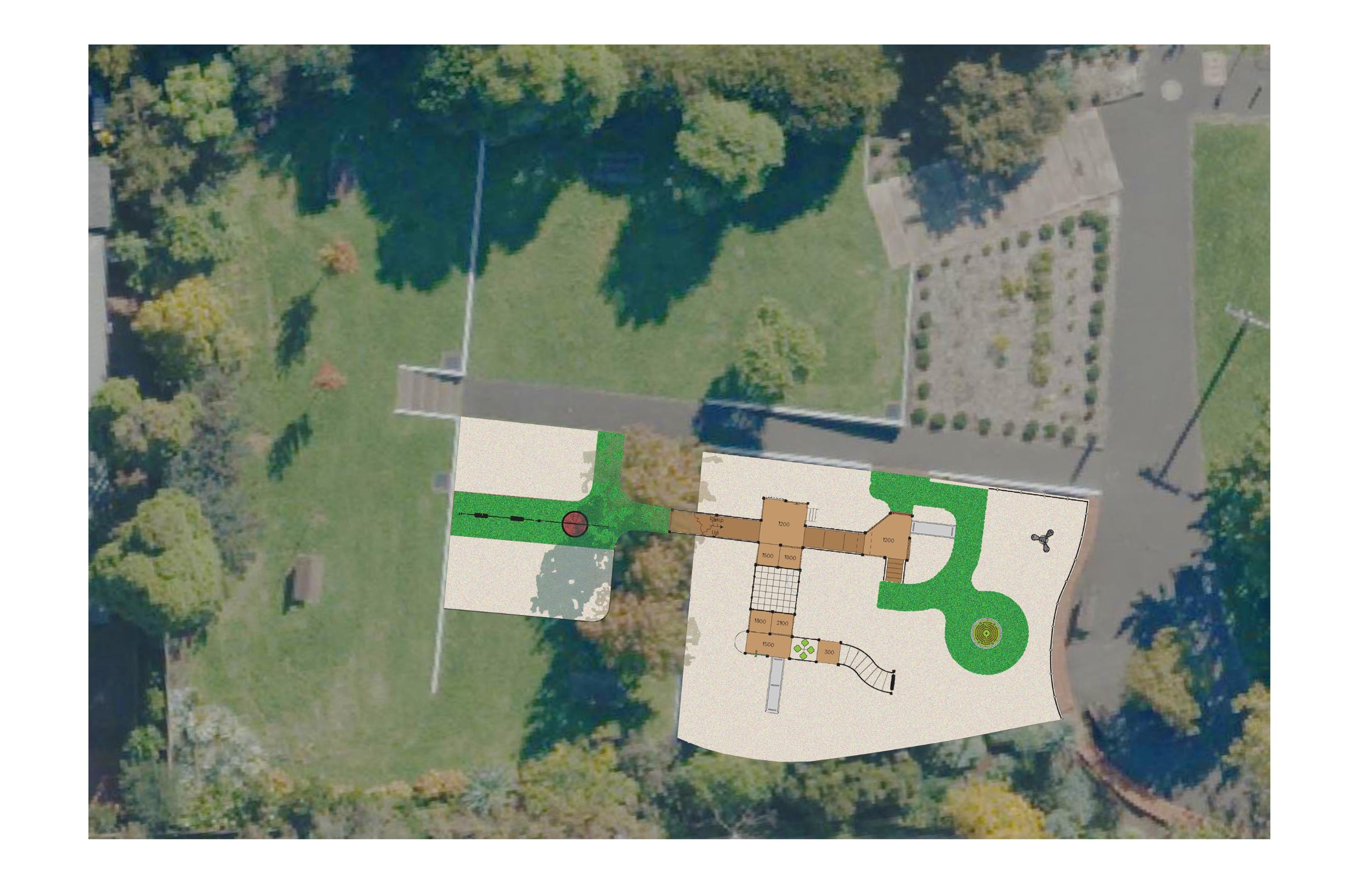 Playground design from above