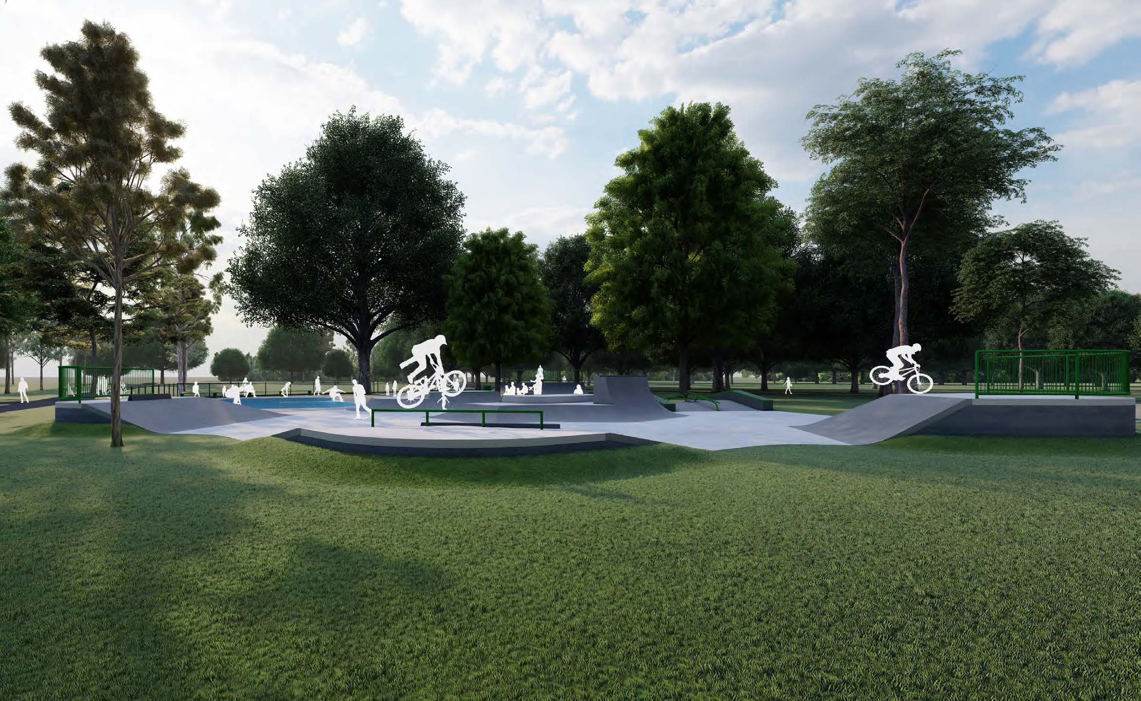 Artist's impression of an upgraded skate park for Edinburgh Gardens