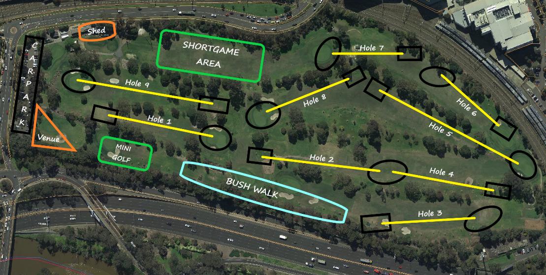 A birds eye view of Burnley Golf Course