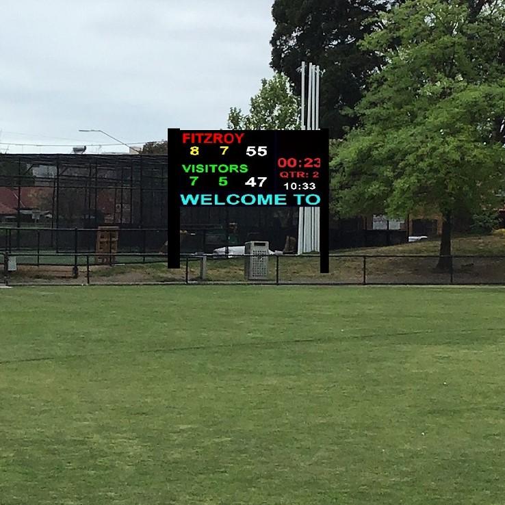 Mock-up of an electric scoreboard