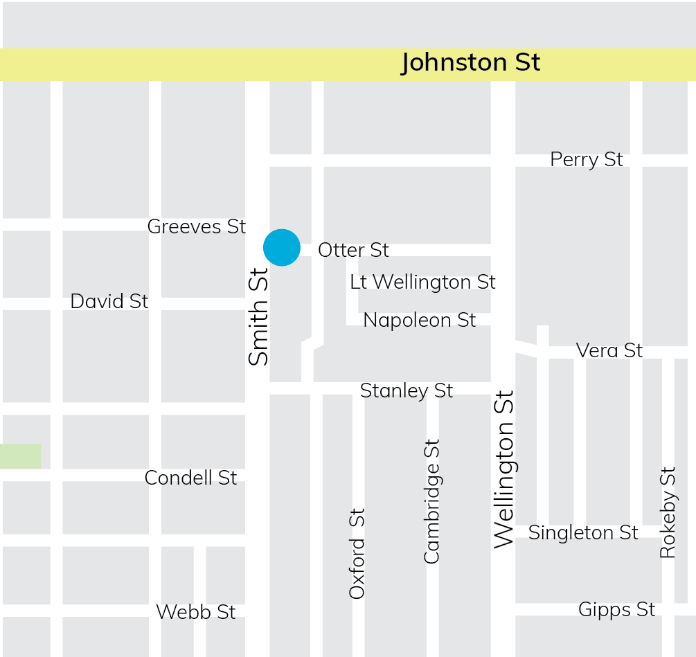 Map of proposed location in Otter Street near Smith Street