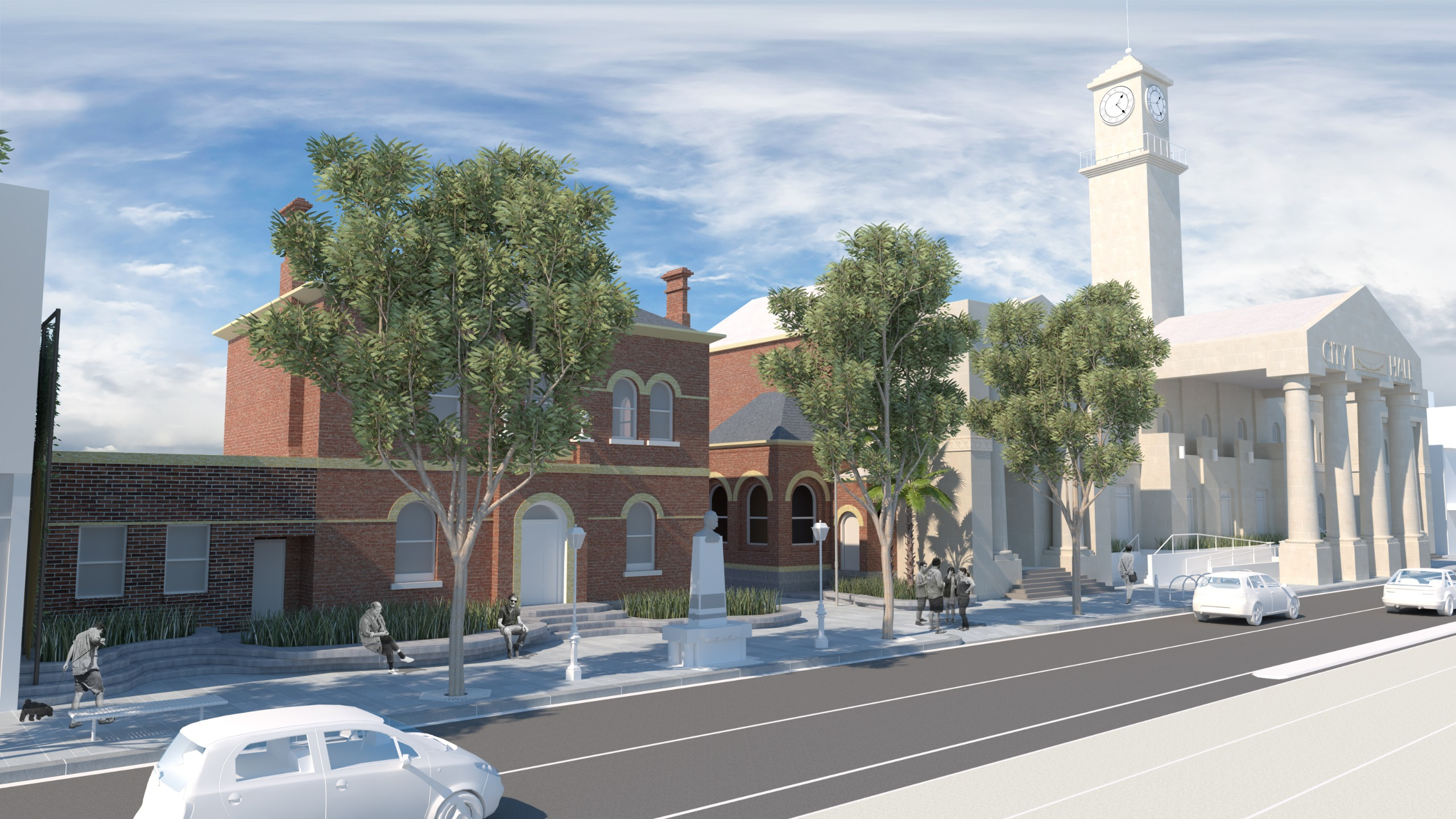 3D view of proposed streetscape improvements