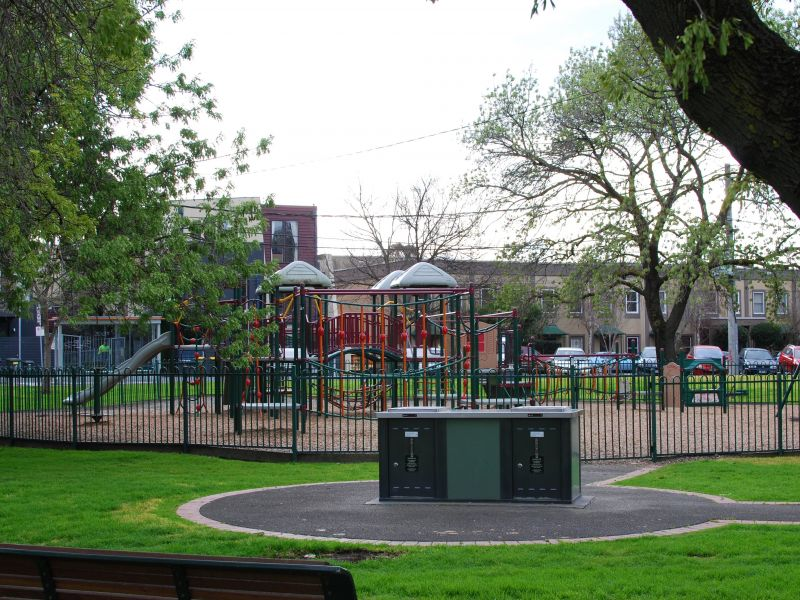 Langdon Reserve - view of BBQ and playground