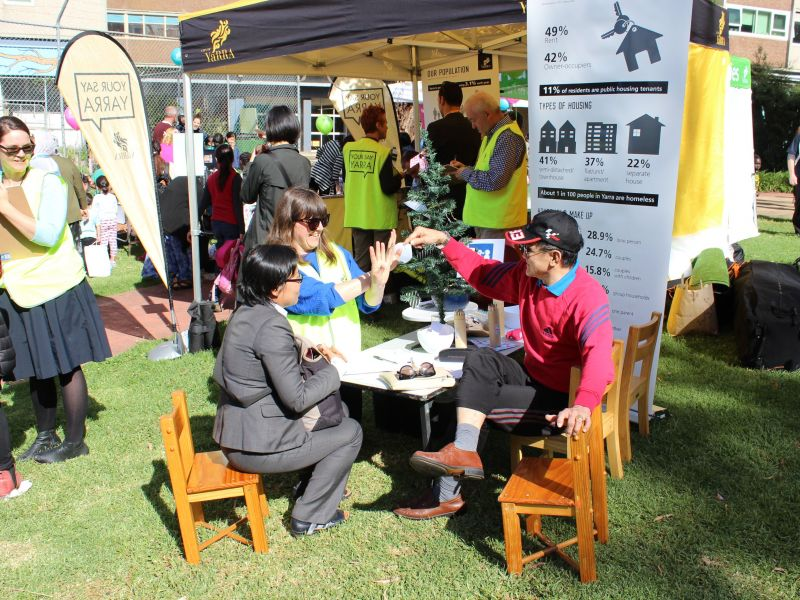 Atherton Gardens Family Fun Day listening post 24 November 2016