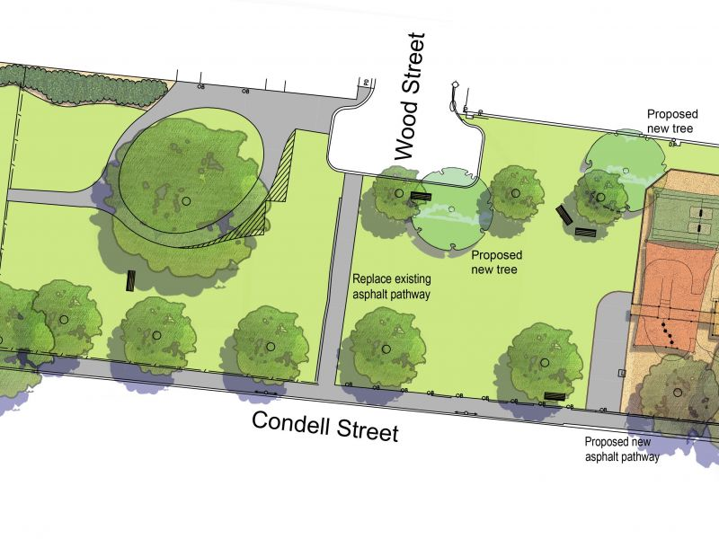 Proposed plan for Condell Street Reserve