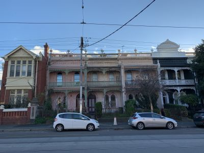 Victorian terraces along Brunswick Street