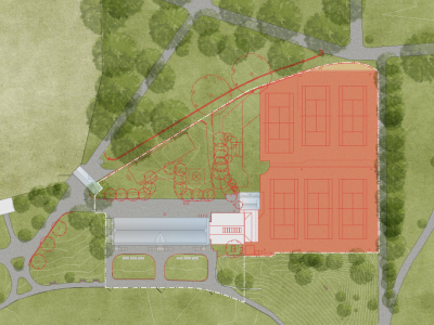 Site plan showing items to be removed