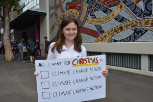 IGS climate change protester