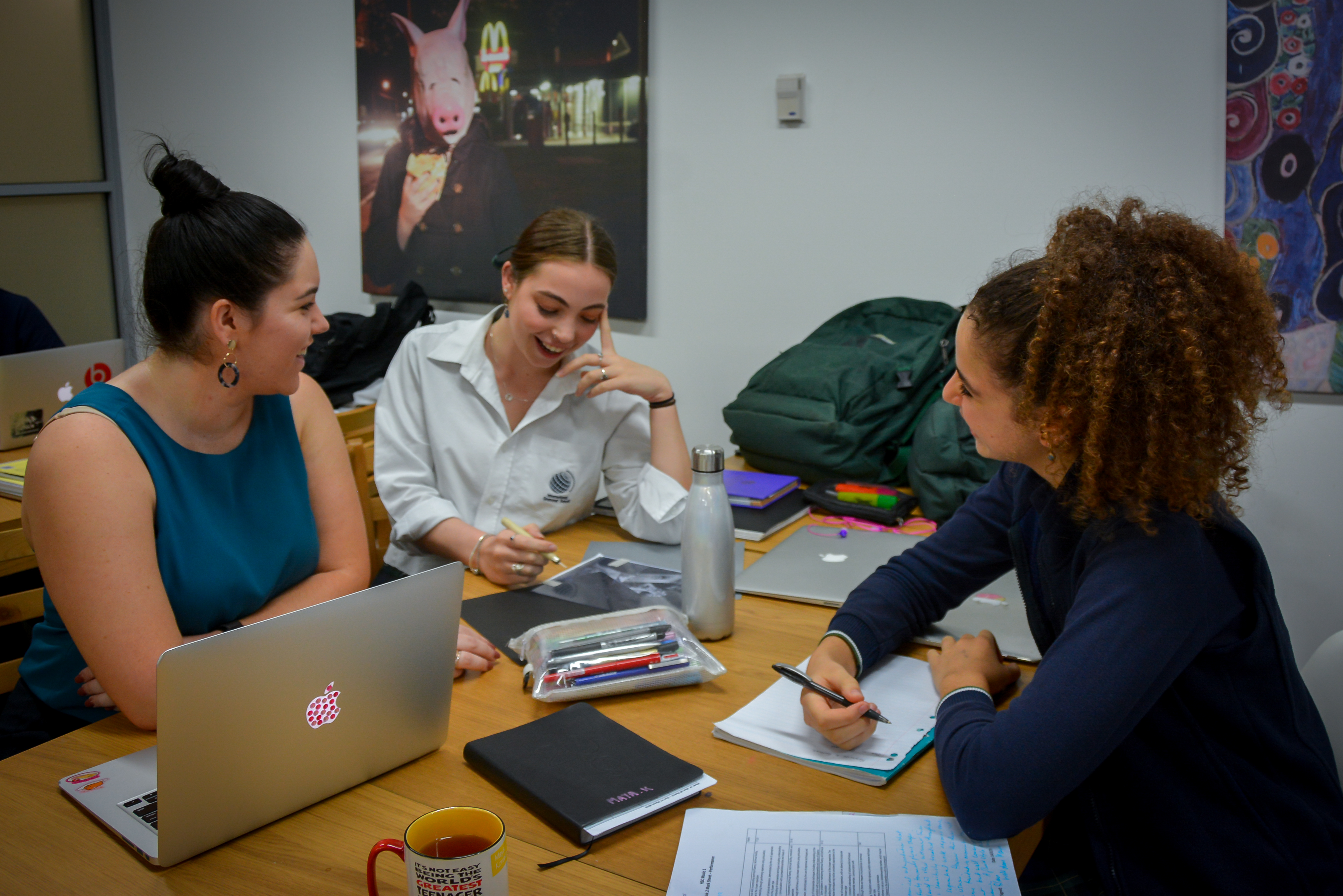IGS 2019 Scholar Bridget Farkas with Year 12 students