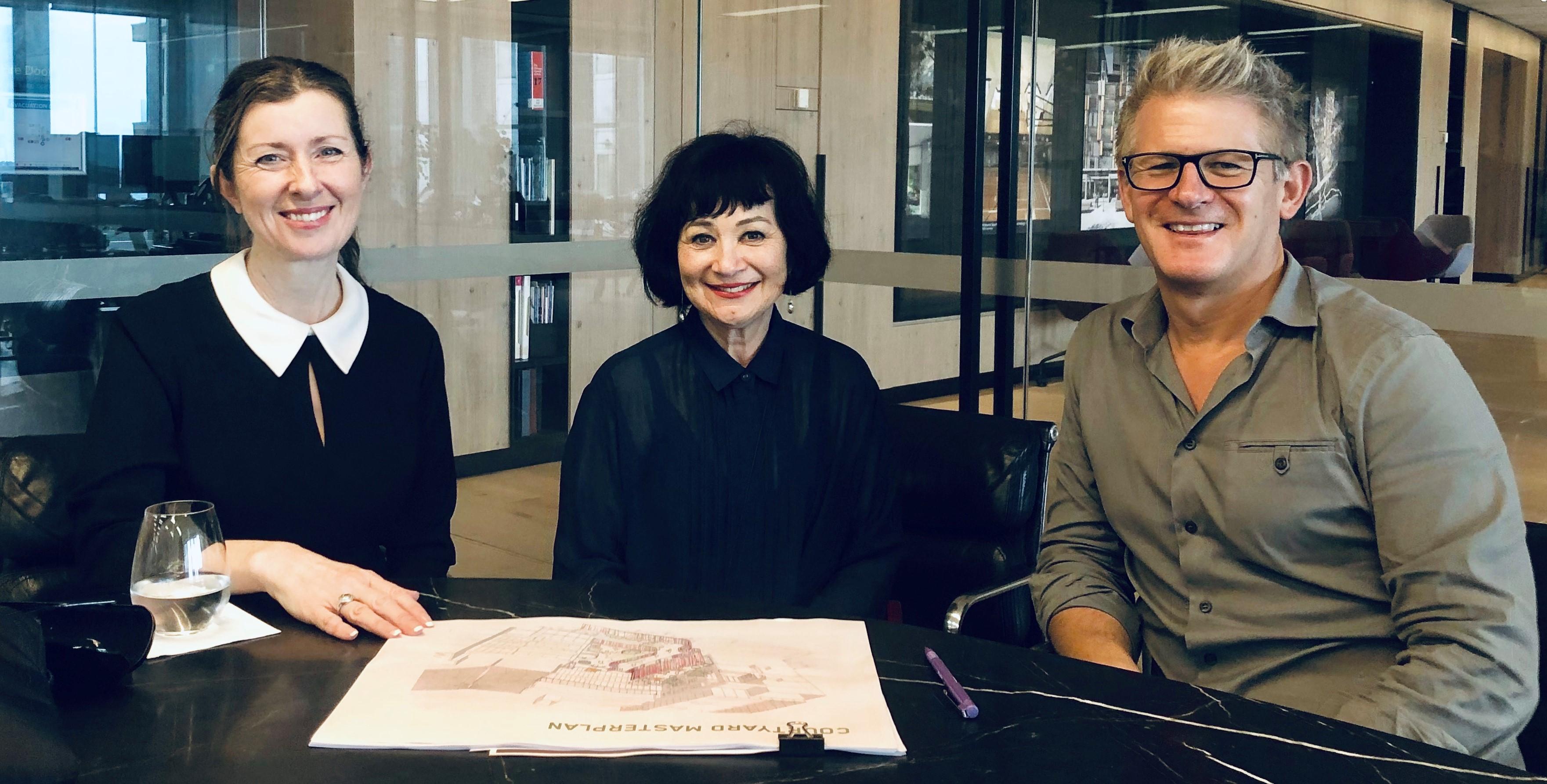 IGS Principal Shauna Colnan with architects Di Jones and Phillip Rossington