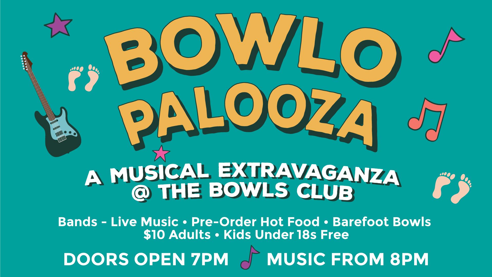 Bowlo Palooza - A musical extravaganza @ Thornbury Bowls Club