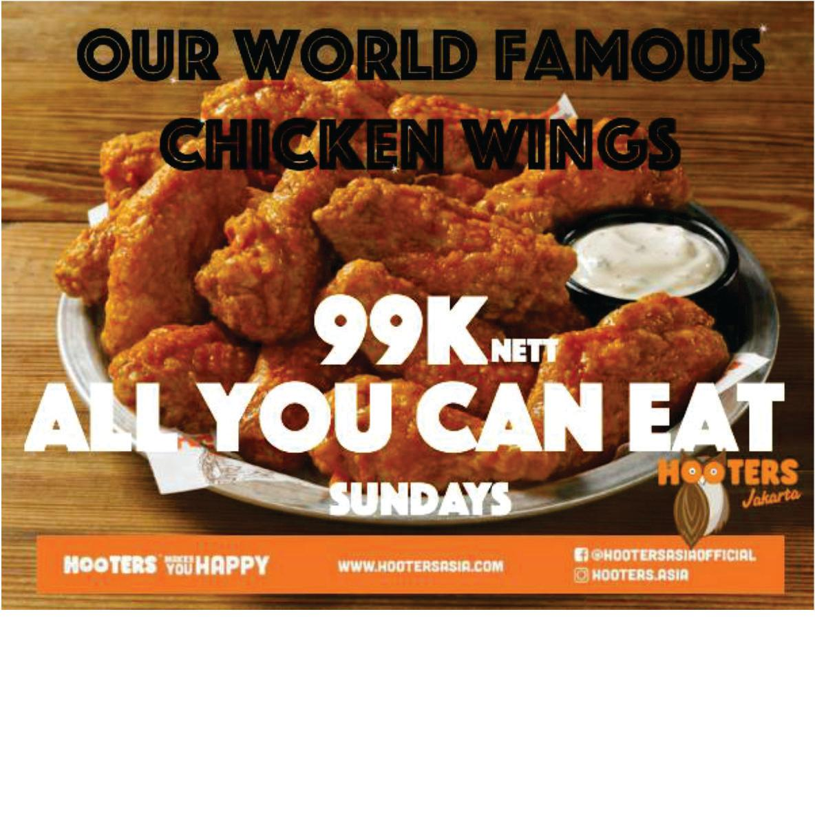 All You Can Eat Wings - Only 99k | TRAVLR Indonesia