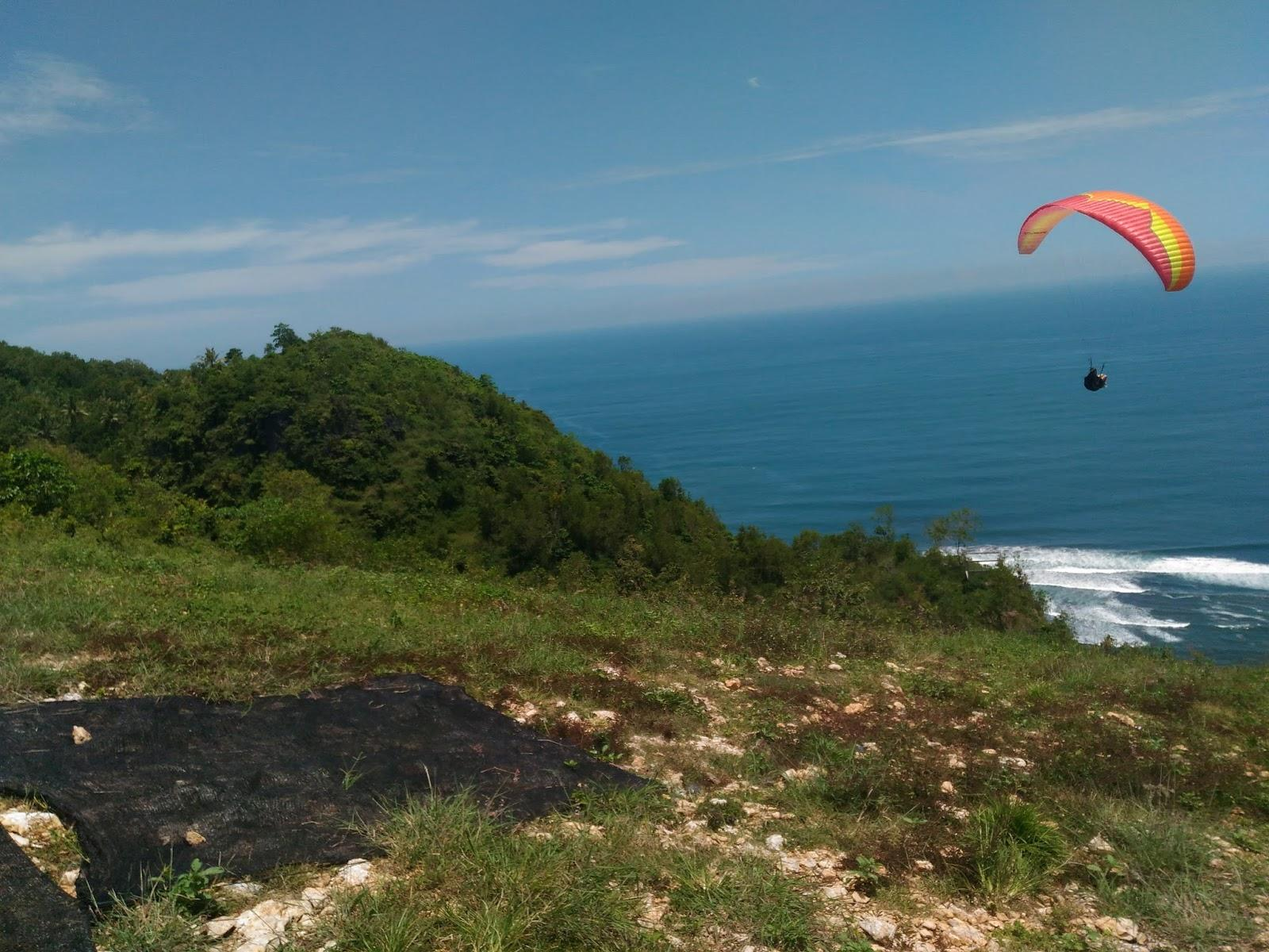 Paragliding at Parangtritis Beach