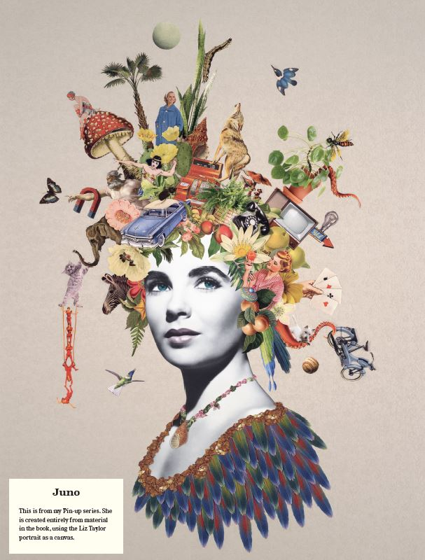 "Maria Rivans ""Juno"", collage, artwork, example"