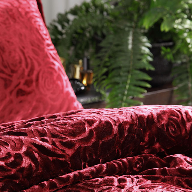 Odette Rouge Quilt Cover Set detail
