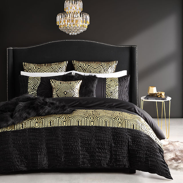 Ritz Gold Quilt Cover Set