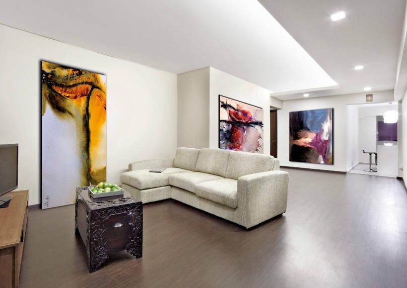 add colour through art